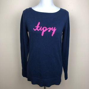 Lilly Pulitzer NWT navy Tipsy Intarsia sweater